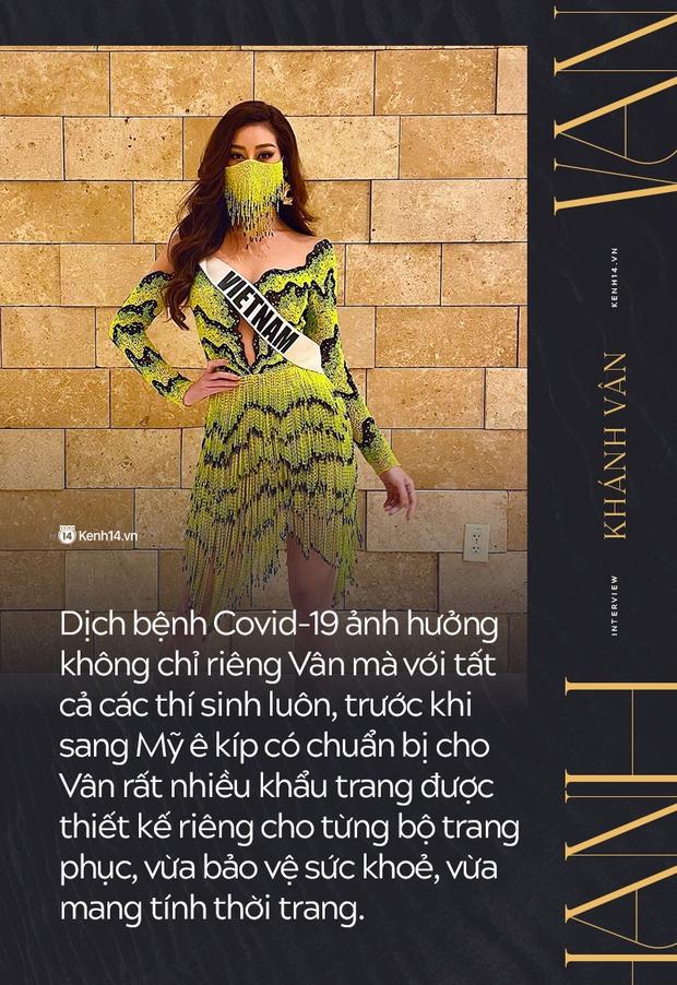 Phỏng vấn nóng phía Khánh Vân trước Chung kết Miss Universe: Em vẫn ổn, dù chân đau nhưng em vẫn chiến hết mình trên sân khấu - Ảnh 5.
