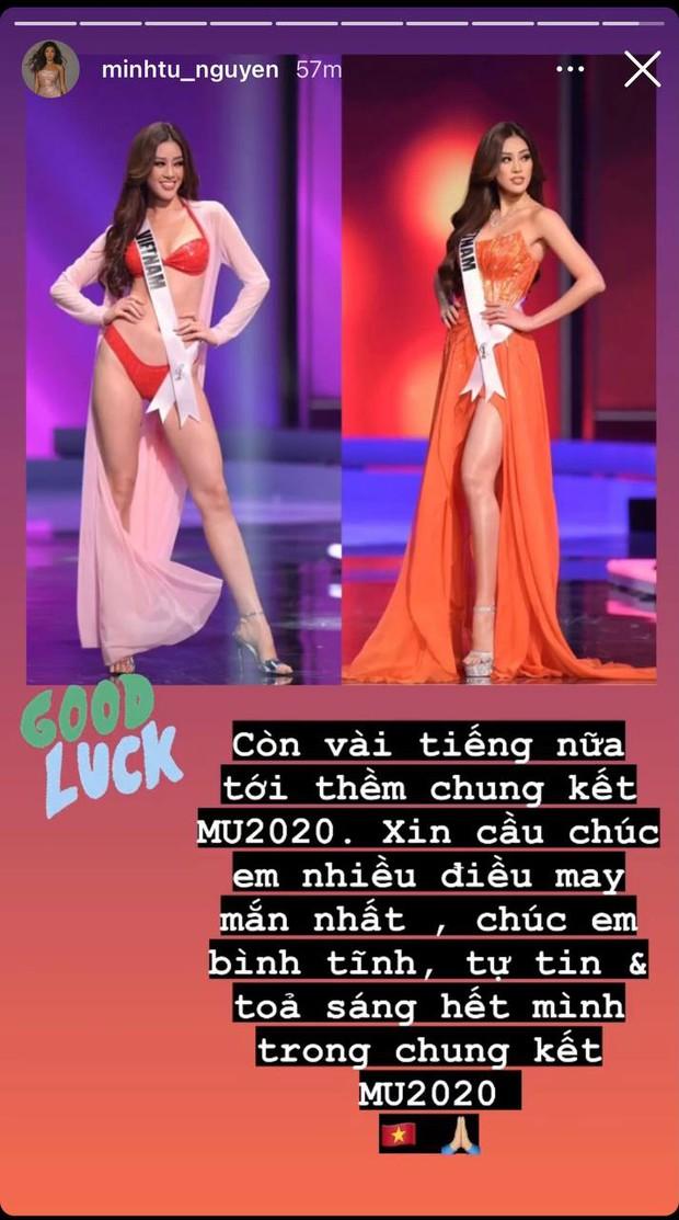 Gia đình và dàn sao Vbiz đồng lòng ủng hộ Khánh Vân trước Chung kết Miss Universe, nhuộm đỏ cả MXH bằng màu cờ Việt Nam - Ảnh 10.