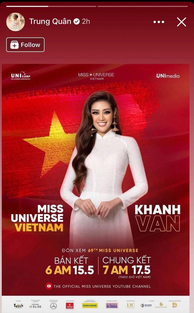 Gia đình và dàn sao Vbiz đồng lòng ủng hộ Khánh Vân trước Chung kết Miss Universe, nhuộm đỏ cả MXH bằng màu cờ Việt Nam - Ảnh 12.