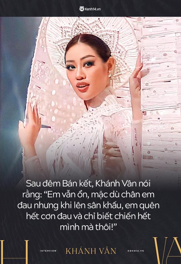 Phỏng vấn nóng phía Khánh Vân trước Chung kết Miss Universe: Em vẫn ổn, dù chân đau nhưng em vẫn chiến hết mình trên sân khấu - Ảnh 8.