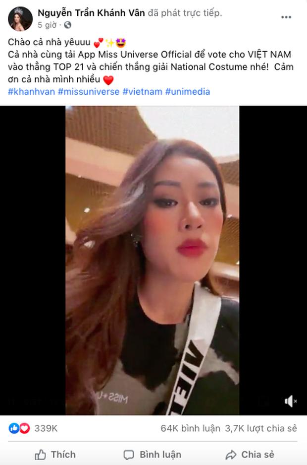 Trước thềm Chung kết Miss Universe, Khánh Vân chứng tỏ sức hút cực khủng, livestream có hơn 130K người xem trực tiếp! - Ảnh 2.