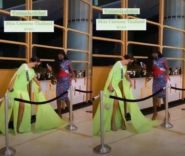 Lộ clip đối thủ số 1 của Khánh Vân ở Miss Universe có ánh mắt lườm như dao cau cứa vào thí sinh khác ngay trên sân khấu? - Ảnh 8.