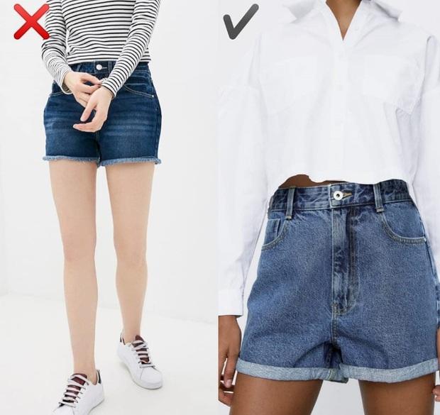 """6 kiểu quần short jeans """"đánh tụt"""" style của bạn xuống mức thảm họa - Ảnh 1."""
