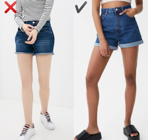 """6 kiểu quần short jeans """"đánh tụt"""" style của bạn xuống mức thảm họa - Ảnh 2."""