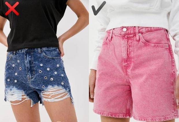 """6 kiểu quần short jeans """"đánh tụt"""" style của bạn xuống mức thảm họa - Ảnh 3."""