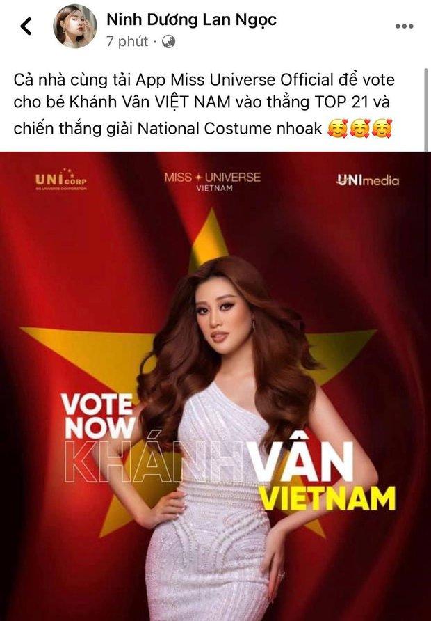 Lan Ngọc hào hứng kêu gọi vote cho Khánh Vân trước thềm Chung kết Miss Universe, ai dè bị hố vì lý do này - Ảnh 2.