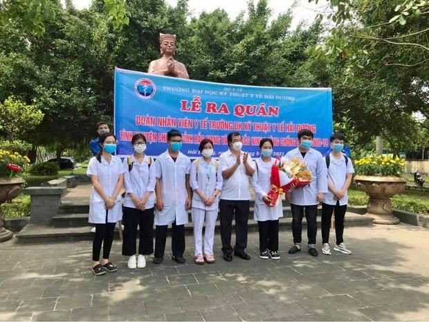 267 sinh viên trường Đại học Kỹ thuật Y tế Hải Dương lên đường chi viện Bắc Giang, Bắc Ninh - Ảnh 1.