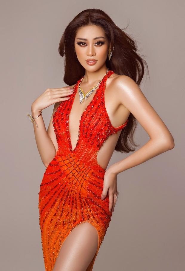 Cận cảnh trang phục dạ hội Khánh Vân chuẩn bị nhưng không được diện lên sân khấu Chung kết Miss Universe 2020 - Ảnh 3.