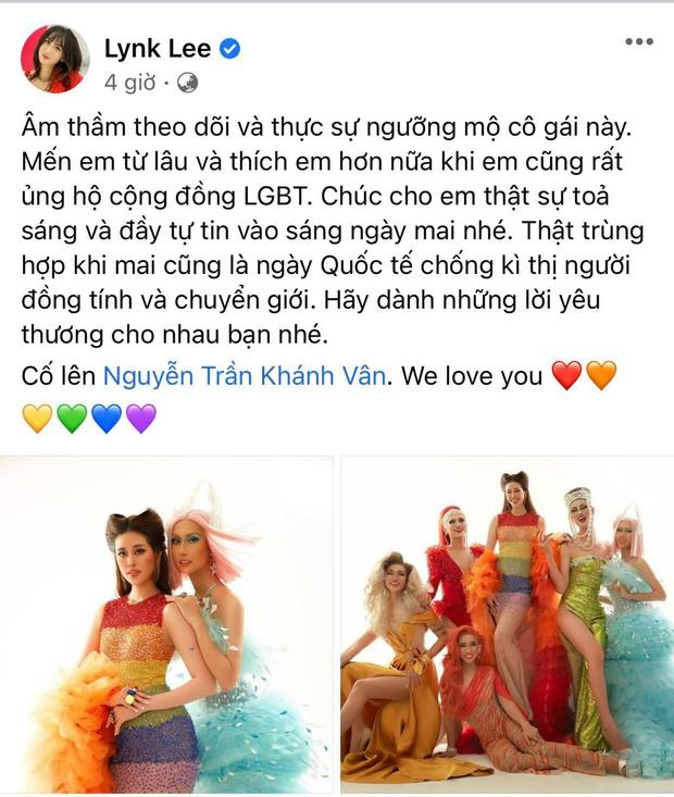 Gia đình và dàn sao Vbiz đồng lòng ủng hộ Khánh Vân trước Chung kết Miss Universe, nhuộm đỏ cả MXH bằng màu cờ Việt Nam - Ảnh 9.