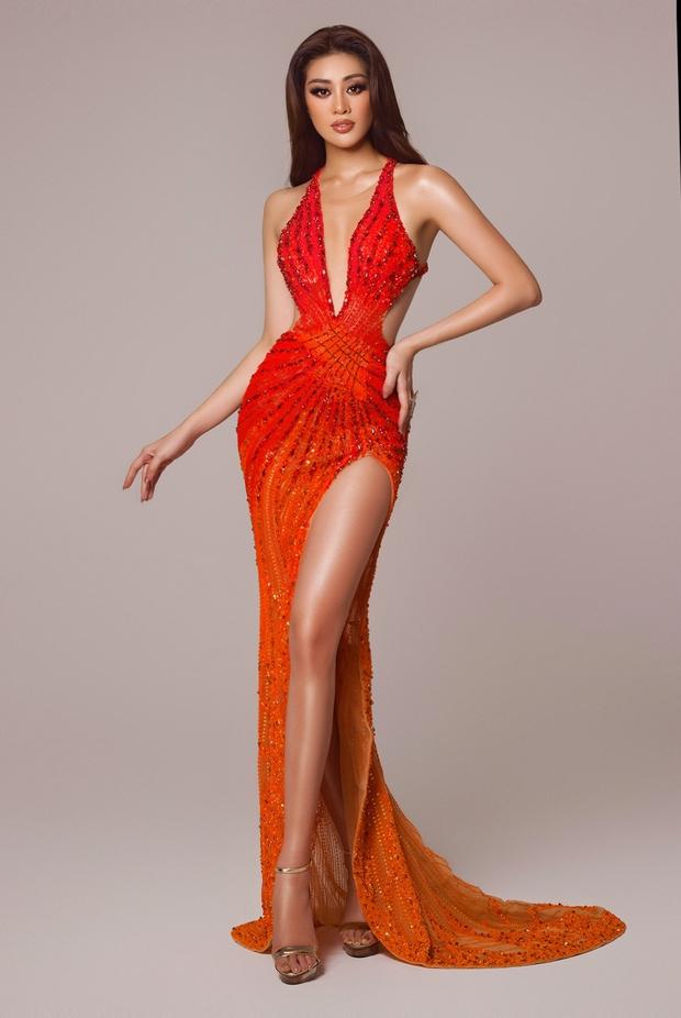Cận cảnh trang phục dạ hội Khánh Vân chuẩn bị nhưng không được diện lên sân khấu Chung kết Miss Universe 2020 - Ảnh 5.