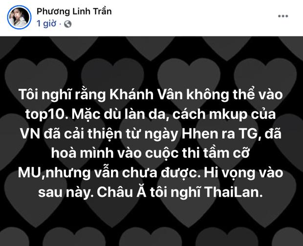 Ca sĩ Phương Linh đoán trước kết quả Khánh Vân không thể vào top 10, hé lộ lý do chưa được và so sánh với HHen Niê - Ảnh 2.