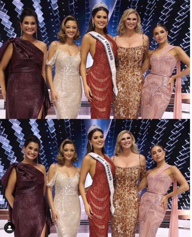 5 nàng hậu Miss Universe hội tụ tạo ra khung hình toàn đệ nhất mỹ nhân: Ai cũng visual đỉnh chóp, khó lòng phân thắng bại - Ảnh 2.