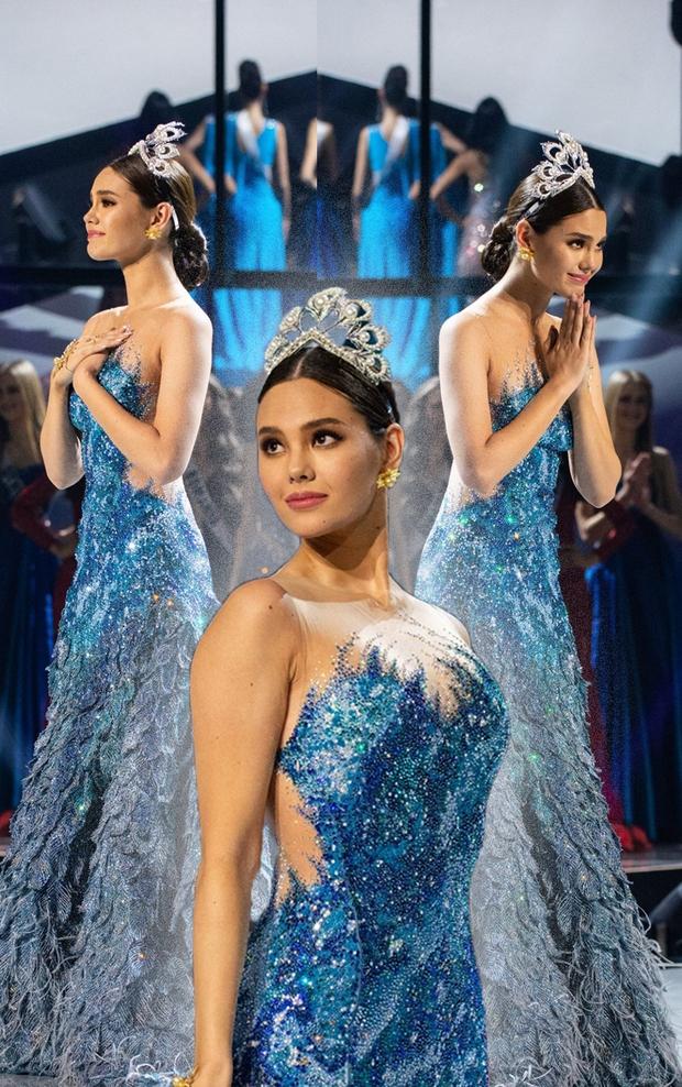 Fan quốc tế chỉ điểm Hoa hậu Thái Lan đạo nhái Miss Universe 2018, từ cái đầm đến kiểu catwalk không chừa miếng nào? - Ảnh 3.