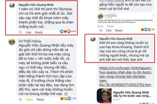 Nhiều lần thí sinh Olympia gây ngỡ ngàng khi khẩu chiến trên mạng xã hội - Ảnh 1.