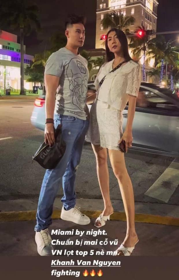 Lộ diện sao Việt đầu tiên trực tiếp có mặt tại Chung kết Miss Universe ở Mỹ để cổ vũ cho Khánh Vân - Ảnh 3.
