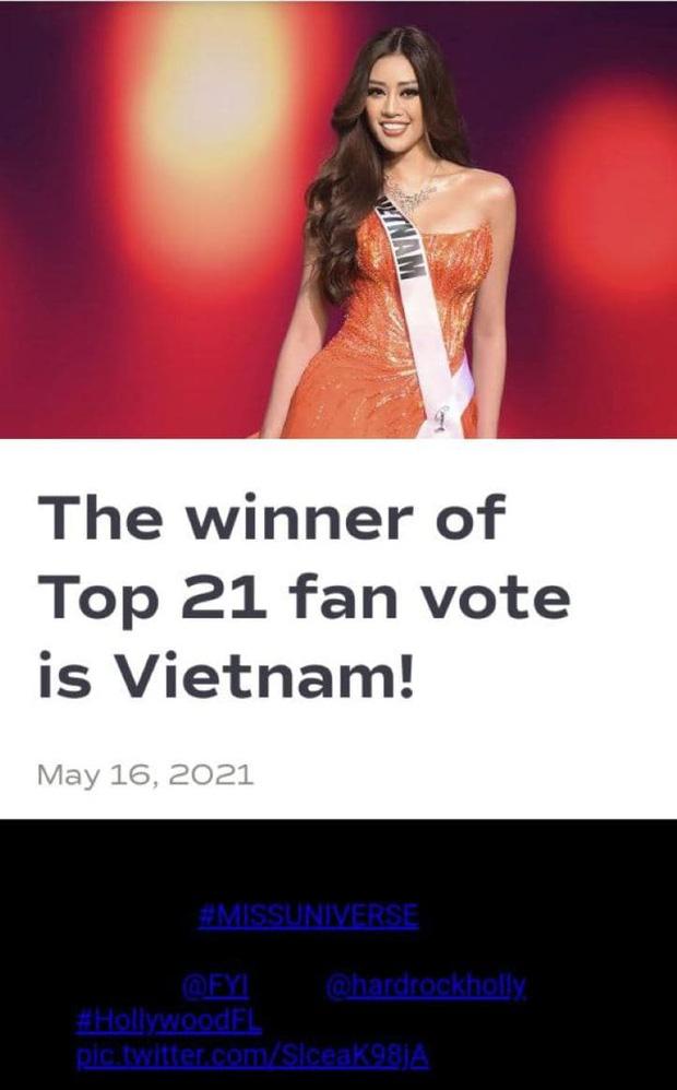 Phản ứng gây sốt của Khánh Vân khi biết tin mình lập kỷ lục vote cao nhất lịch sử Miss Universe - Ảnh 4.