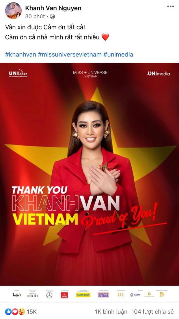 Khánh Vân đã có chia sẻ đầu tiên sau khi bị loại khỏi top 10 Miss Universe 2020 - Ảnh 2.