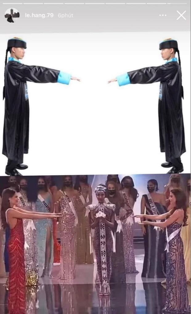 Á hậu Lệ Hằng bỗng nhiên bị chỉ trích vì đăng ảnh cà khịa các người đẹp Miss Universe như... cương thi? - Ảnh 2.