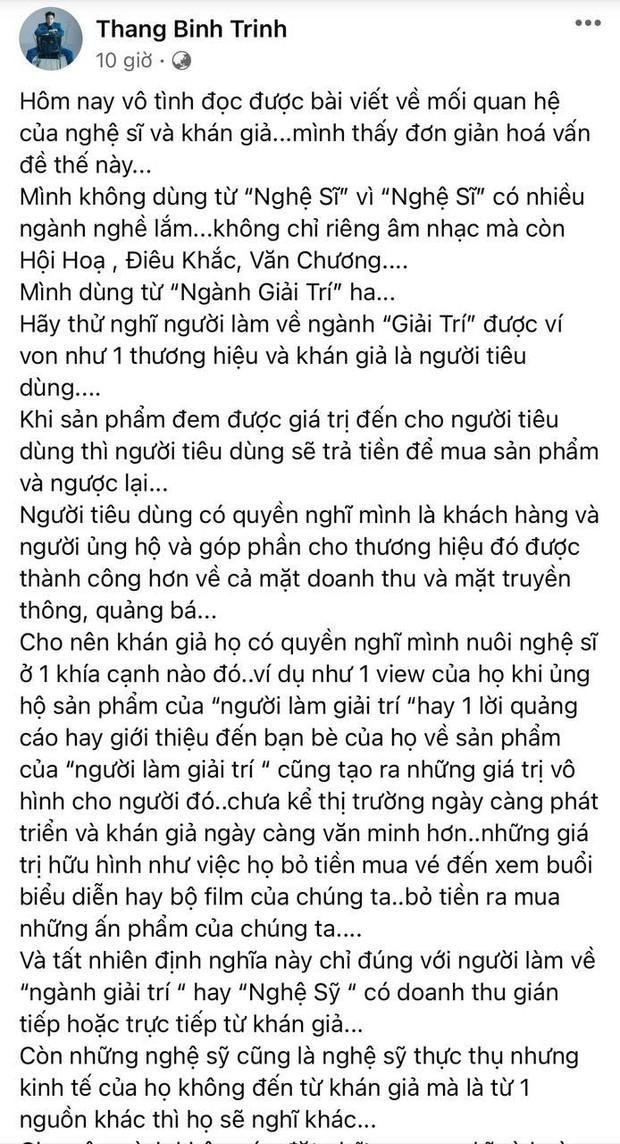 Trịnh Thăng Bình nói gì về quan điểm Công chúng nuôi nghệ sĩ mà được khen ngợi rầm rộ giữa biến căng thế này? - Ảnh 2.