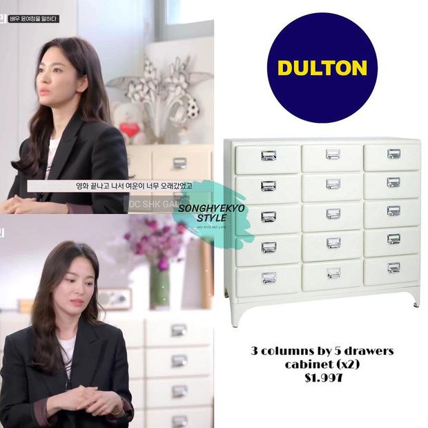 Nhà Song Hye Kyo có tủ nhiều ngăn đẹp quá nhưng giá chát, thích style này thì đây là gợi ý vừa tiền cho bạn  - Ảnh 1.