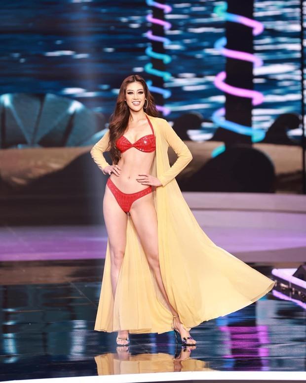 Hé lộ bảng điểm thi bikini ở Chung kết Miss Universe: Khánh Vân xếp hạng bao nhiêu? - Ảnh 1.