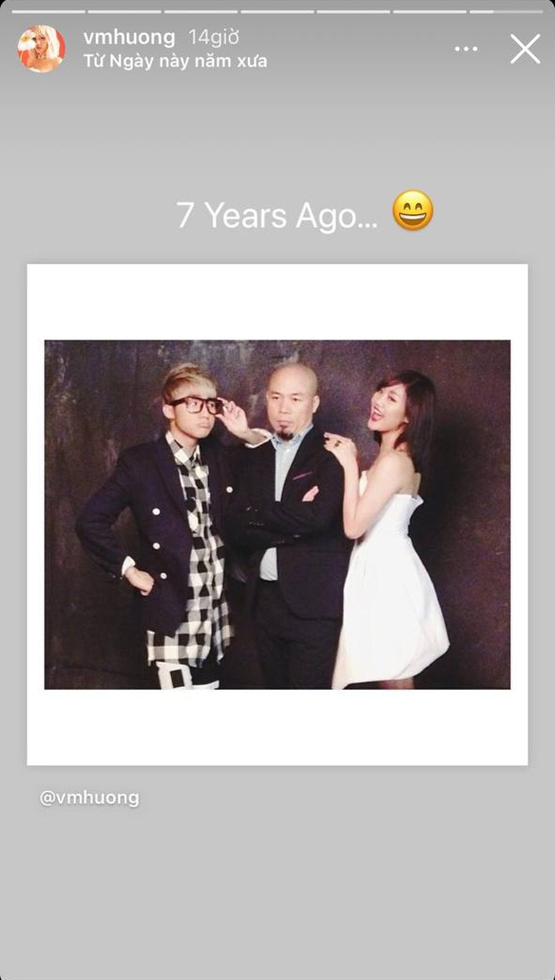 Văn Mai Hương bất ngờ đăng kỉ niệm 7 năm trước với Sơn Tùng và nhạc sĩ Huy Tuấn, netizen nhớ ngay đến thời bị cấm biểu diễn - Ảnh 1.