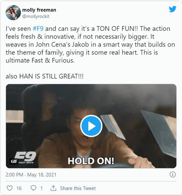 Fast & Furious 9 được khán giả thế giới dành cơn mưa lời khen: Phần phim hoành tráng và ảo nhất thương hiệu là đây! - Ảnh 2.