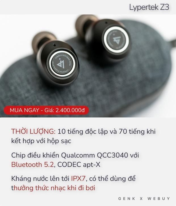 Từ 1 triệu đã có 5 option tai nghe True Wireless pin khủng, sạc 1 lần dùng cả tháng - Ảnh 3.