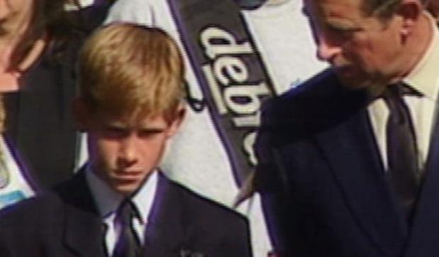 Hoàng tử Harry kìm nén nước mắt, lồng ghép hình ảnh đám tang Công nương Diana trong phim tài liệu mới khiến dư luận phẫn nộ - Ảnh 3.