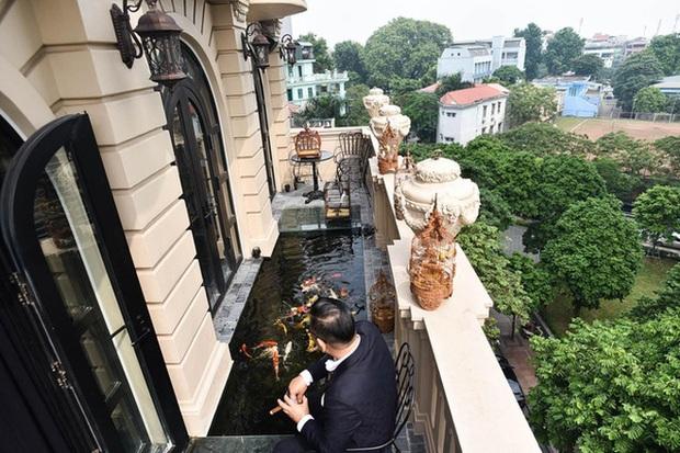 Biệt thự phố cổ Hà Nội của đại gia thời trang Chương Tailor: Xây bể cá Koi 5 tỷ ở ban công, dành nguyên tầng điều hòa nuôi chim đột biến - Ảnh 3.