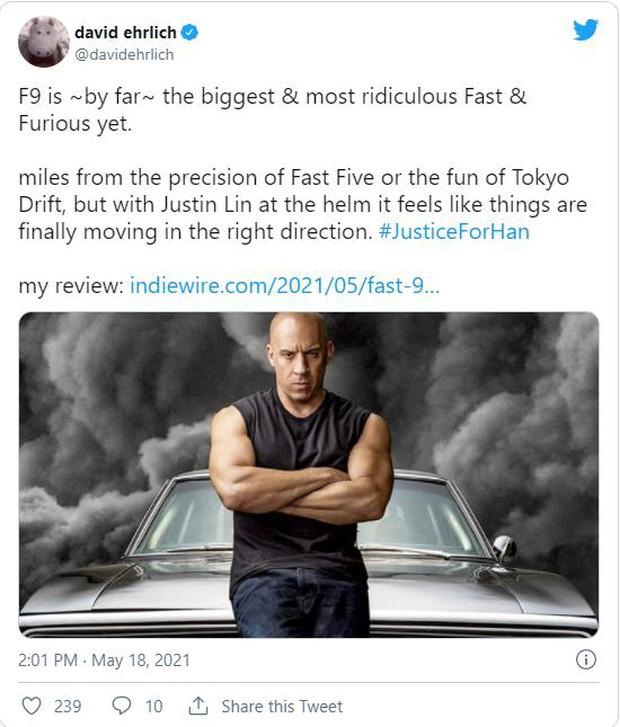 Fast & Furious 9 được khán giả thế giới dành cơn mưa lời khen: Phần phim hoành tráng và ảo nhất thương hiệu là đây! - Ảnh 4.