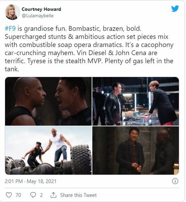 Fast & Furious 9 được khán giả thế giới dành cơn mưa lời khen: Phần phim hoành tráng và ảo nhất thương hiệu là đây! - Ảnh 6.