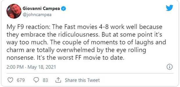 Fast & Furious 9 được khán giả thế giới dành cơn mưa lời khen: Phần phim hoành tráng và ảo nhất thương hiệu là đây! - Ảnh 7.