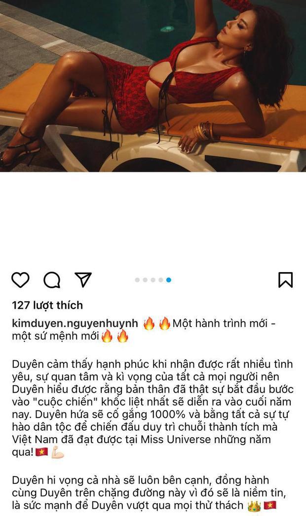 Khánh Vân chưa về nước, Kim Duyên đã tung bộ ảnh nóng hừng hực bắt đầu đường đua đến Miss Universe 2021 - Ảnh 3.