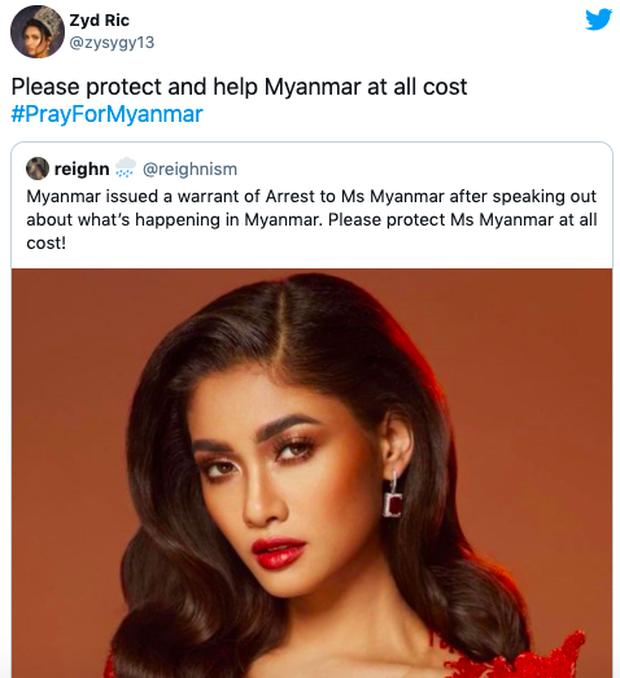 NÓNG: Rầm rộ tin Hoa hậu Myanmar bị truy nã khẩn cấp sau màn cầu cứu ở Miss Universe, thực hư ra sao? - Ảnh 4.
