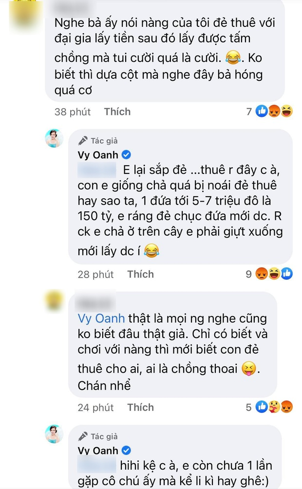 """Bất ngờ bị đại gia Phương Hằng tố giật chồng, Vy Oanh lên tiếng đáp trả và còn mượn chuyện """"đẻ thuê"""" để """"cà khịa"""" ngược?  - Ảnh 4."""