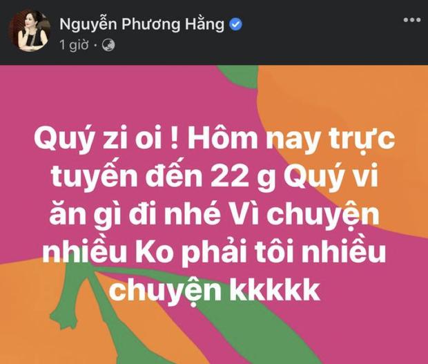 Đại gia Phương Hằng tuyên bố livestream đến 22:00 nhưng 21:25 đã tắt, dân mạng thông cảm: Chắc cô nói nhiều nên mệt - Ảnh 2.
