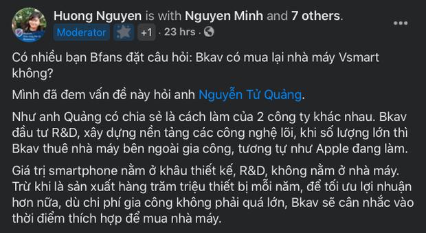Được gợi ý mua lại nhà máy Vsmart, CEO BKAV Nguyễn Tử Quảng phản hồi ra sao? - Ảnh 3.