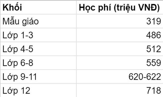 5 trường quốc tế có mức học phí 2021-2022 cao ngất ngưởng tại TP. HCM: Phụ huynh phải trả trên dưới nửa tỷ đồng cho con đi học lớp 1  - Ảnh 4.