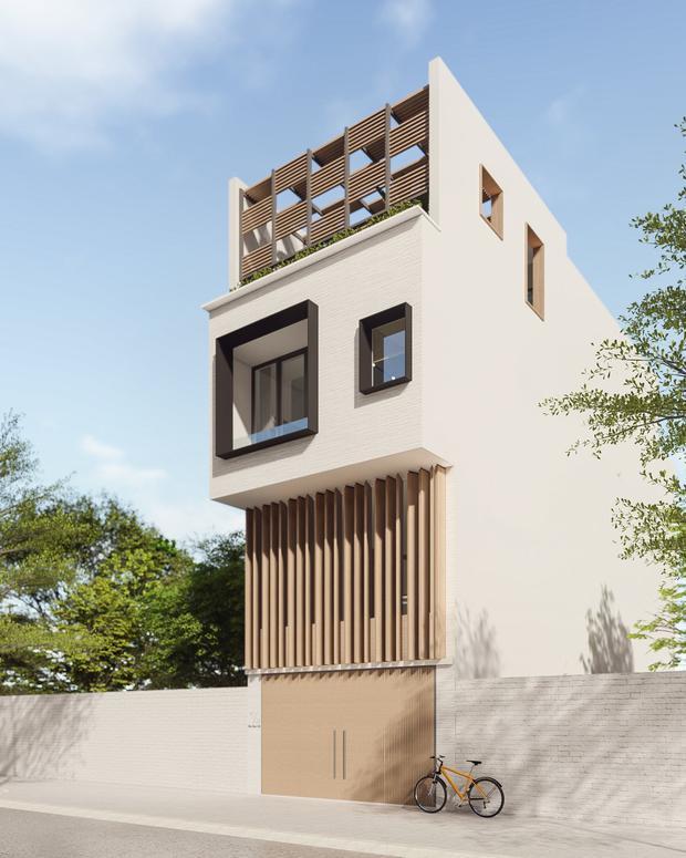 Không mua chung cư, vợ chồng 9x xây nhà 3 tầng với chi phí gần 3,4 tỷ, ai cũng bất ngờ với cánh cửa bí mật ở gác lửng - Ảnh 1.
