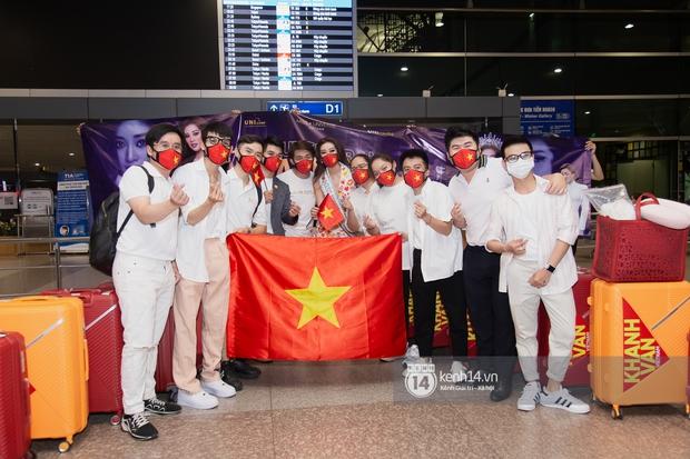 Hoa hậu Khánh Vân mang theo 15 vali sang Mỹ chinh chiến Miss Universe 2020, Á hậu Kim Duyên và fan có mặt cổ vũ - Ảnh 8.