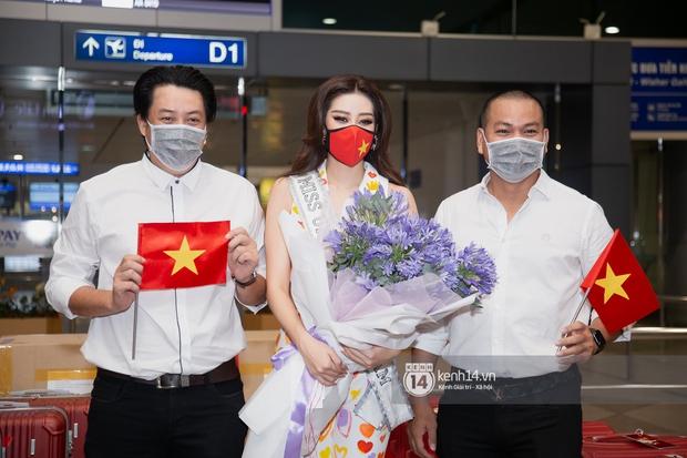 Hoa hậu Khánh Vân mang theo 15 vali sang Mỹ chinh chiến Miss Universe 2020, Á hậu Kim Duyên và fan có mặt cổ vũ - Ảnh 6.