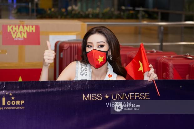 Hoa hậu Khánh Vân mang theo 15 vali sang Mỹ chinh chiến Miss Universe 2020, Á hậu Kim Duyên và fan có mặt cổ vũ - Ảnh 10.
