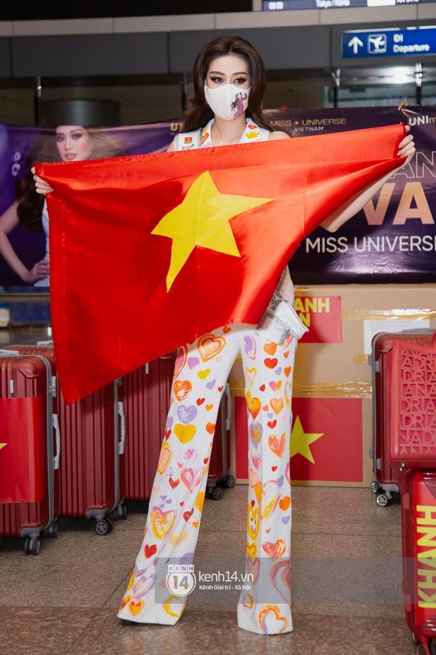 Hoa hậu Khánh Vân mang theo 15 vali sang Mỹ chinh chiến Miss Universe 2020, Á hậu Kim Duyên và fan có mặt cổ vũ - Ảnh 2.