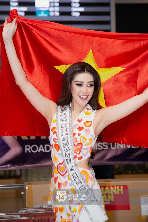 Hoa hậu Khánh Vân mang theo 15 vali sang Mỹ chinh chiến Miss Universe 2020, Á hậu Kim Duyên và fan có mặt cổ vũ - Ảnh 4.