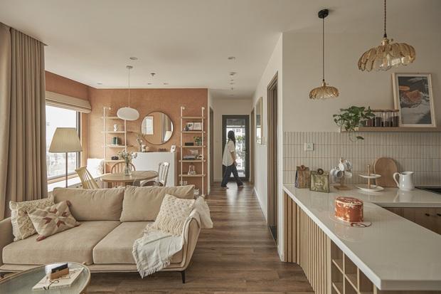 Vợ chồng trẻ tự thiết kế căn hộ Vinhomes đẹp siêu thực, riêng việc test sơn đã thấy max cầu kỳ - Ảnh 8.