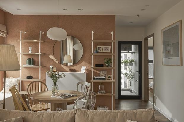 Vợ chồng trẻ tự thiết kế căn hộ Vinhomes đẹp siêu thực, riêng việc test sơn đã thấy max cầu kỳ - Ảnh 12.