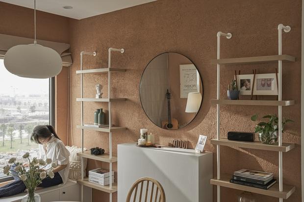 Vợ chồng trẻ tự thiết kế căn hộ Vinhomes đẹp siêu thực, riêng việc test sơn đã thấy max cầu kỳ - Ảnh 13.