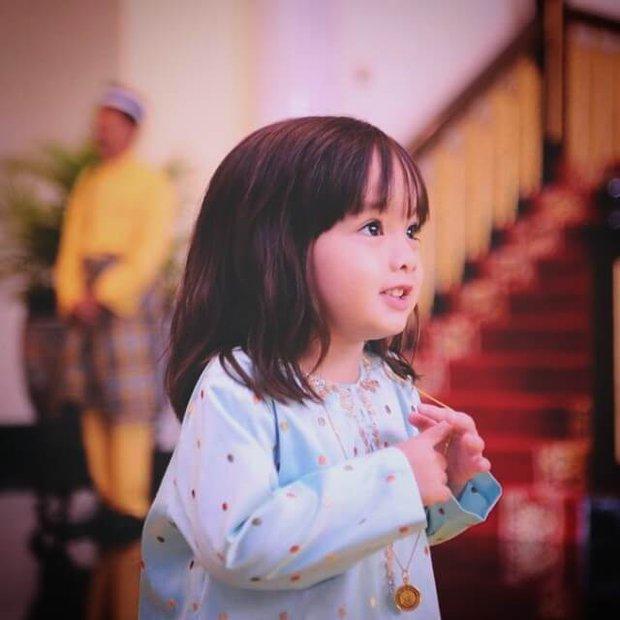 Tiểu công chúa Malaysia xinh xắn hết nấc nhưng biểu cảm có 1-0-2 của bé mới là điều đốn tim người xem - Ảnh 2.