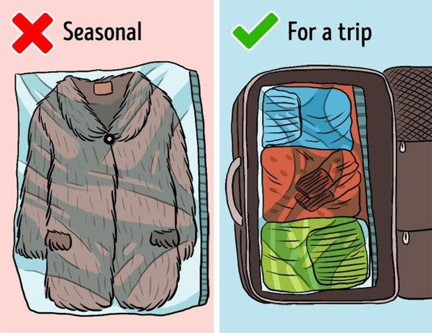 Mắc phải 9 sai lầm khi sắp xếp tủ đồ này, quần áo dù yêu thích đến mấy cũng sẽ sớm bị hỏng - Ảnh 2.